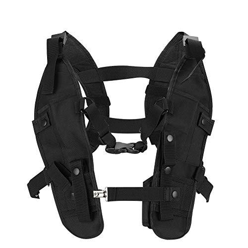 KUIDAMOS Outdoor-Doppelschulter-Brusttasche Verstellbare Träger aus Nylonmaterial Walkie-Talkie-Brusttasche, für Ski-Patrouillen, zum Radfahren, zur Bergrettung
