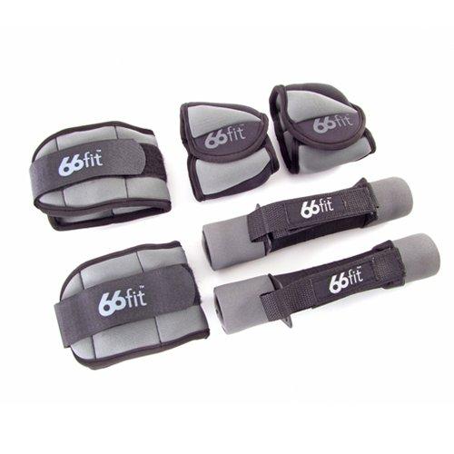 66Fit Knöchel-, Handgelenk- und Hantel-Gewichte-Set, 4 kg