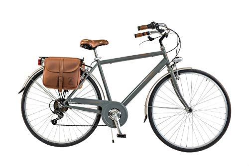 Via Veneto by Canellini Bicicletta Bici Citybike CTB Uomo Vintage Retro Via Veneto Acciaio Grigio Telaio 54