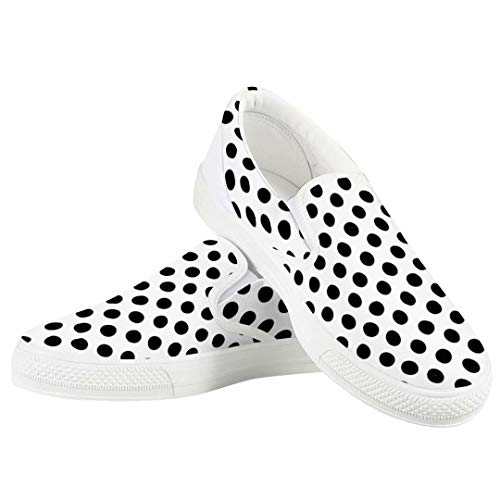 White Black Polka dot Women Comfy Loafer Shoes for Women Casual Slip On Performance Walking Shoes Sneaker Best Mother Valentine¡¯s Gifts