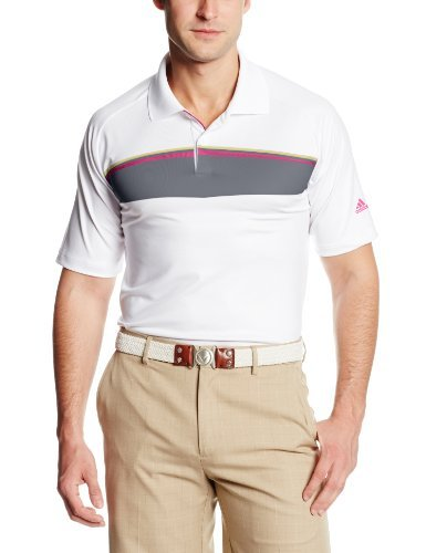 adidas Polo de golf Puremotion Tour Climacool Geo Print para hombre - TM1136S4, Puremotion Tour Climachill® Geo Print Tour Polo