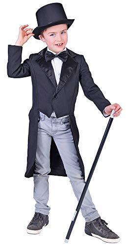 Das Kostümland Black Costume Tailcoat for Kids - Ottima Base per Il Travestimento da maggiordomo dello Zombie, 20 Anni e 30 Anni di Show Dance (8-10 Anni)