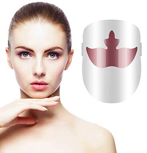 Maschera viso Per Fototerapia con LED a 3 colori, luce facciale trattamento bellezza pelle ringiovanimento fototerapia maschera bellezza viso