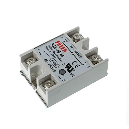WT-DDJJK Módulo de relé, módulo de relé de estado sólido SSR-40AA 40A 250V 80-250V DC entrada 24-380VAC salida