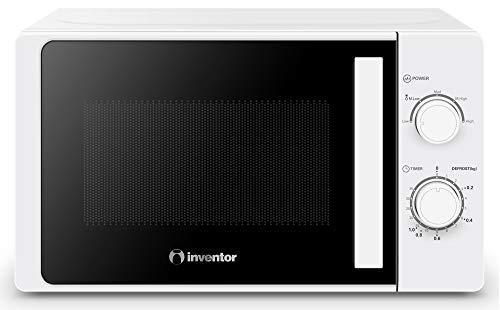 Inventor Microondas MWO-20LW de 700W, 20 Litros de Capacidad, 6 Programaciones y Modo Descongelación, Temporizador de 35min, Color Blanco