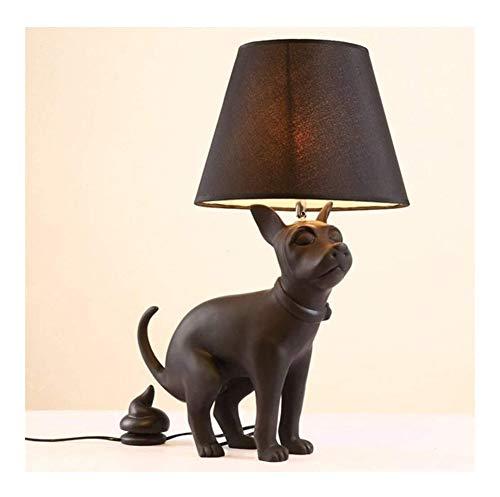 Lámpara de diseño de la sala jirafa orgulloso del perro de perrito lindo animal perezoso creativo Lámpara de mesa decorativa infantil sencillo y moderno - dormitorio sala adecuada for el estud