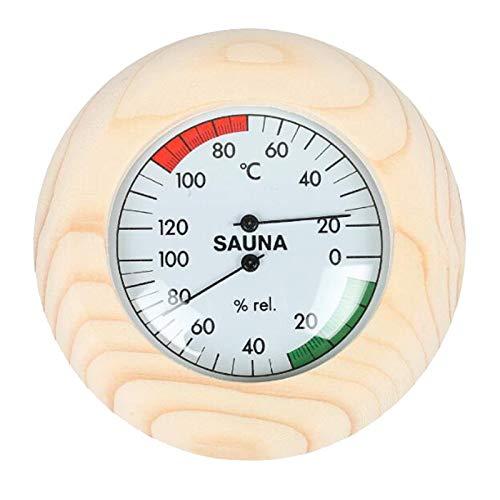 LOVIVER Das Runde Sauna Hygrothermograph Thermometer Und Das Hygrometer 2 Funktionieren in 1 für Die Spa Sauna Im Badezimmer
