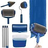 Kit de 6 Rouleau Peinture, Anti Goutte de Professionnelle Rouleau Peinture avec Reservoir et Poteaux Télescopiques pour Peinture Murale, Murs et Plafonds Pour La Maison, Le Bureau