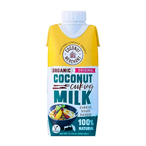 Coconut Merchant Biologische Kokosmelk 330ml x6   Tetra Pak   voor Curries, Soepen, Sauzen, Smoothies en Drinks   Vegan…