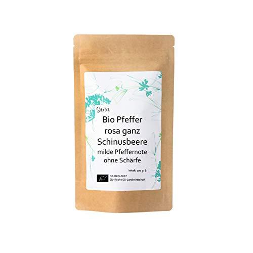 Suna® Bio Pfeffer rosa ganz Schinusbeere | milde Pfeffernote ohne Schärfe | Päckchen 100 g