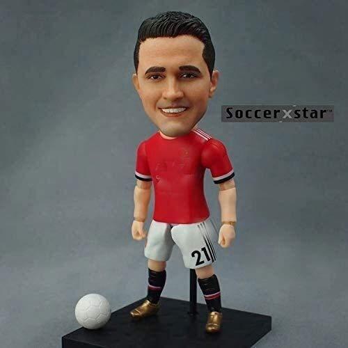 Soccer Star Helenio Herrera Figura de acción coleccionista de Manchester United/coleccionables para fanáticos del fútbol/decoración del salpicadero para coche 13 cm