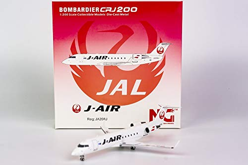 NG Model NGM52030 1:200 JAL J-Air CRJ-200ER Reg #JA208J (pre-Painted/pre-Built)