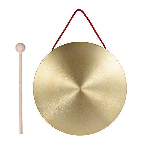 Ammoon Hand-Gong Becken aus Messing und Kupfer, Percussion, mit Hammer, 15cm 22cm
