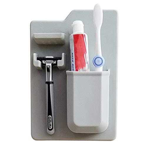 Shilia Kosmetiktasche für Zahnbürste, Zahnpasta, Make-up-Pinsel, Rasierer, Organizer, Silica-Gel Gy
