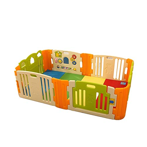 Read About Tuuertge Foldable Baby Playpen Baby Playpen Kids Safety Play Yard Home Indoor Baby Playar...