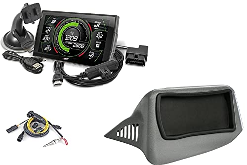 Edge EVO Evolution CTS3 Touch Screen Gauge Monitor 85400-200 & Dash Pod 28502 & EGT Probe Pyrometer Kit 98620 Compatible with 2007-2013 Chevy Silverado/GMC Sierra 6.6L LB7/LLY/LBZ Duramax Diesel