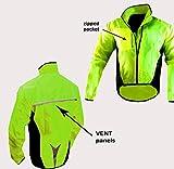 Chaqueta de ciclismo impermeable y muy visible, color YELLOW HI VIZ, tamaño Medium