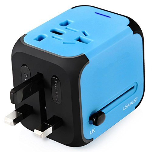 Worldwide Travel Adapter Universal Travel Power Adapter All in One...