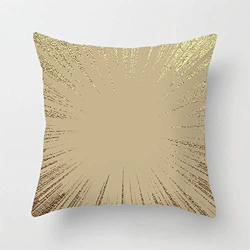 JUYOU Kussen Covers goud kleur vloeiende gouden elementen Flow vierkante gooi kussensloop kussensloop sofa home sofa/slaapbank/slaapkamer decoratieve kussensloop 18x18 inch Aanpasbaar T5