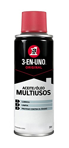 3 EN UNO Original 34135 - Spray Multiusos 200 ml- Lubrica, Limpia y Protege Contra el Óxido