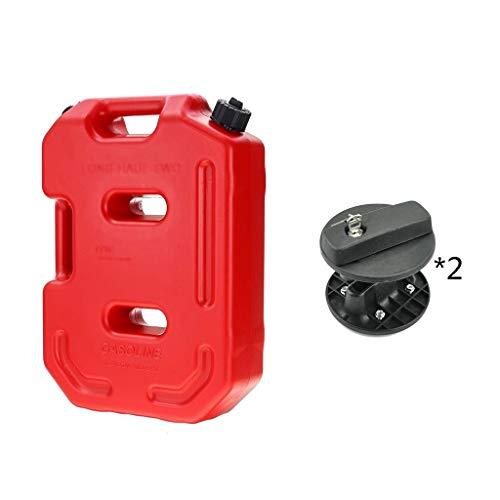 DLYDSS 10L Benzintank Mit 2 Lock, Kunststoff Benzinkanister, Reservekanister Benzin Kanister, for Offroad-SUV ATV Motorrad Dreirad Brennstoffbehälter