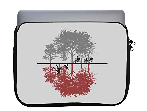 Two Dimensions Design 11x14 inch Neoprene Zippered Laptop Sleeve Bag by egeek amz for MacBook or Any Other Laptop