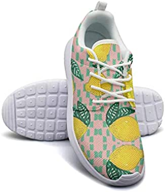 Lemons Humor Style Womans Canvas Casual Shoes Sneakers Light Basketball Shoes