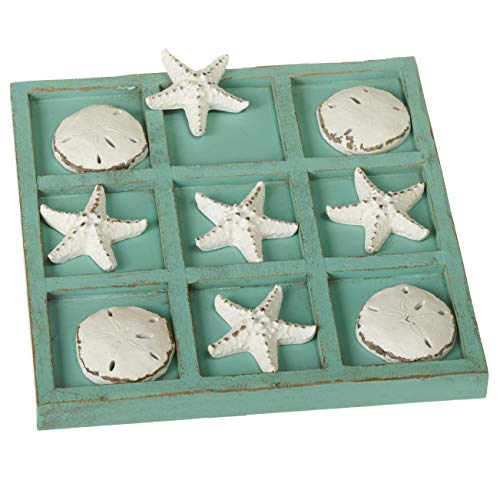 Midwest CBK Decorative Sea Shell Tic-Tac-Toe Game Set with 9' Board