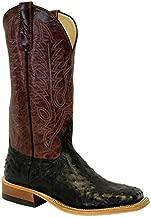 Anderson Bean Black Ostrich Full Quill Burgundy Men's Boots