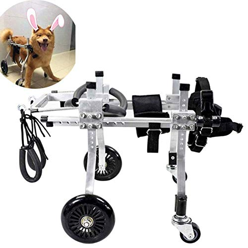 Elitte Adjustable Dog Cat Pet Wheelchair, Veterinarian Approved - Wheelchair for Back Legs for Small Dog, 3D Soft Harness,Light Weight, Easy Assemble