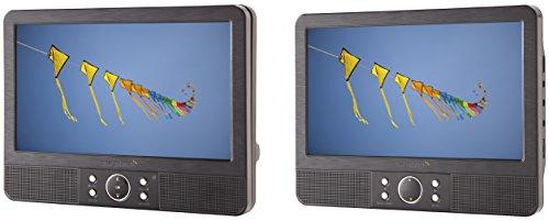 Sunstech DLPM959BK - Reproductor DVD portátil (doble pantalla, 9'), color negro