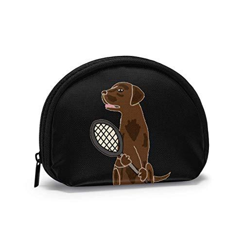 Lustige Schokolade Labrador Tennis Spielen Kleine Geldbörse Brieftasche mi-NI Kosmetiktaschen Reißverschlusstasche für Frauen