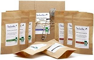 Coffret dégustation 8 x 50g Assortiment de thés et tisanes BIO - coffret cadeau recyclé