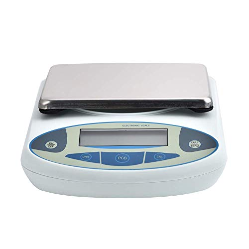 AKYUNM High Precision Lab Scale Digital Analytical Electronic Balance Laboratory Lab Precision Scale Jewelry Scales Kitchen Precision Weighing Electronic Scales 0.01g (5kg/0.01)