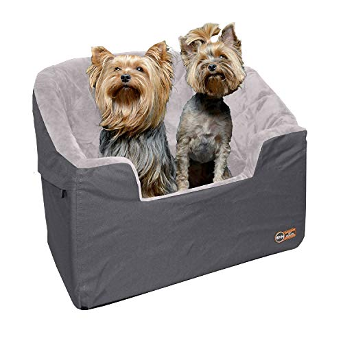 K&H Pet Products Bucket Booster Dog Car Seat Large Gray 14.5' x 24'