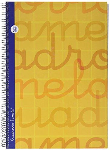 Lamela 7FTE003N Cuaderno folio en espiral, Color naranj, 80 hojas