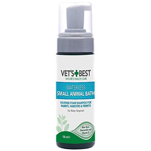 Vet's Best Small Animal Waterless Bath |Geen Spoelen Droge Shampoo voor Kleine Dieren, 150ml