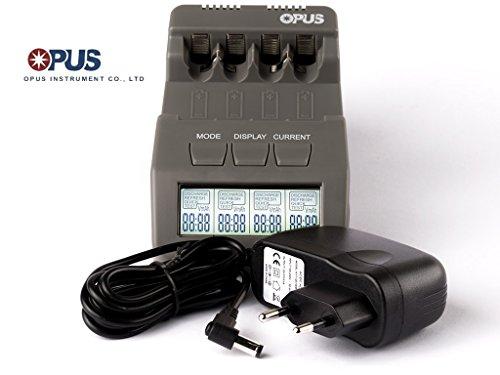 Opus BT-C700 intelligentes Ladegerät für AA/AAA, NIMH, NiCd Akkus