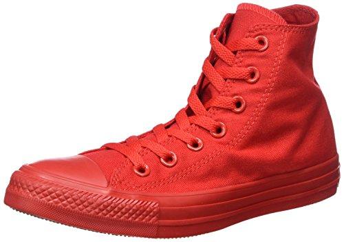 Converse Sneaker Alta Monocrome all Star Hi Rosso EU 37.5 (US 5)