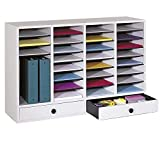 Pemberly Row Office/Classroom 32 Compartment Literature Mailbox Organizer with 2 Storage D...