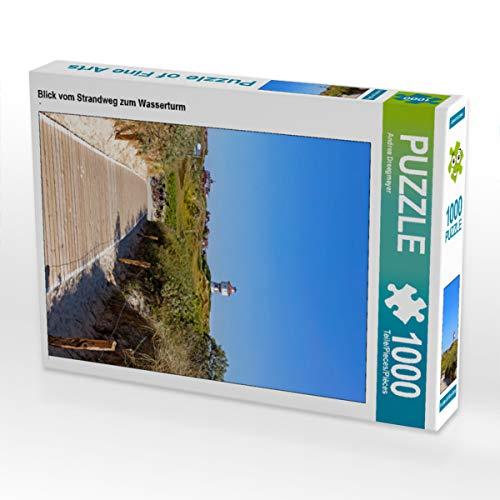 CALVENDO Puzzle Blick vom Strandweg zum Wasserturm 1000 Teile Lege-Größe 48 x 64 cm Foto-Puzzle Bild von Andrea Dreegmeyer