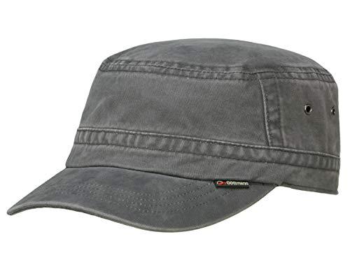 Göttmann Santiago Army Cap mit UV-Schutz aus Baumwolle - Anthrazit (18) - 62 cm