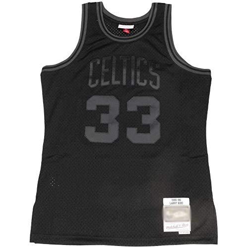 QQA NBA Swingman Basketball Trikots Celtics Team # 33 Larry Bird, Unisex Ärmellos Mesh-Sweatshirt Cool Atmungsaktiv Sportweste Sport Top,L (175~180CM/75~85KG)