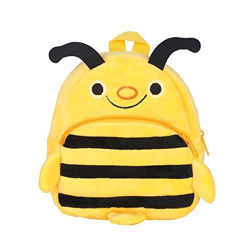 Kinder Rucksack,Kleine Mädchen Junge Kleinkind Mini Rucksack, Bequeme Weiche Tasche Geschenk für 1-5 Jahre alte Kinder für Outdoor/Sports/Camping/Picknick Rucksäcke (Biene Gelb)