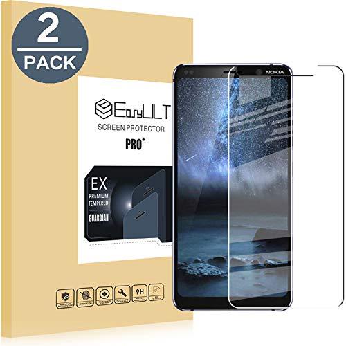 EasyULT Pellicola Protettiva Compatibile con Nokia 9 / Nokia 9 PureView [2-Pezzi],Vetro Temperato Screen Protector per Nokia 9 / Nokia 9 PureView