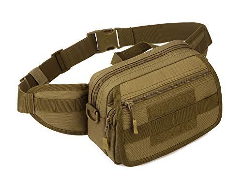 Yakmoo Bolsa de Riñonera Impermeable Bolso de Cintura Estilo Militar Táctico Molle Sistema Bolsa Multifuncional de Cuatro Maneras de Usar al Aire Libre