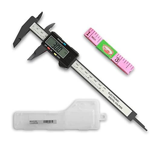 Raniaco Calibre Digital, Vernier Calibre Pantalla LCD Calibrador Electrónica, 150mm/6Inch para Medir Interior Exterior Altura Profundidad y Escalera