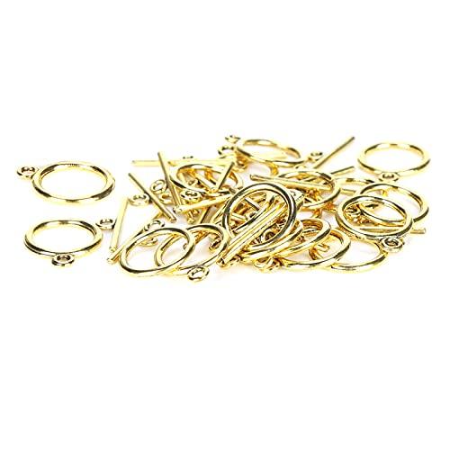 OT Hebilla, prácticos cierres de palanca robustos resistentes al desgaste Conveniente para pulseras para pendientes para manualidades para colgantes para collares(Oro antiguo)