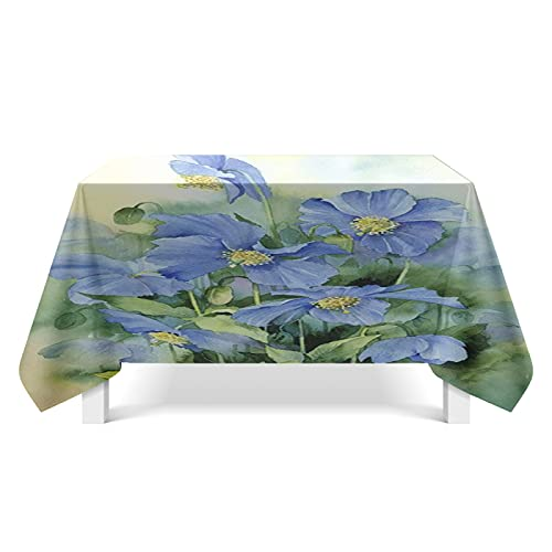 XGguo Tablecloth for Solid Table Cover for Wedding Restaurant Party Buffet Table Flower painting decorative art