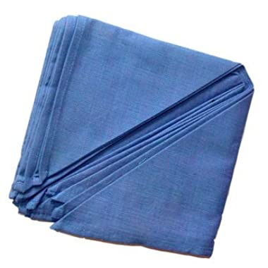 Solid Color Cotton Napkin Set of 6 - 15 x15 , Water - Blue